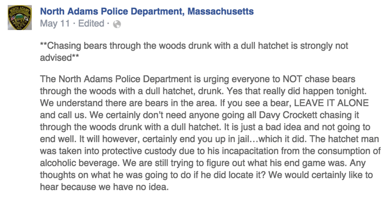 woods warning bears facepalm animals police - 8577378560