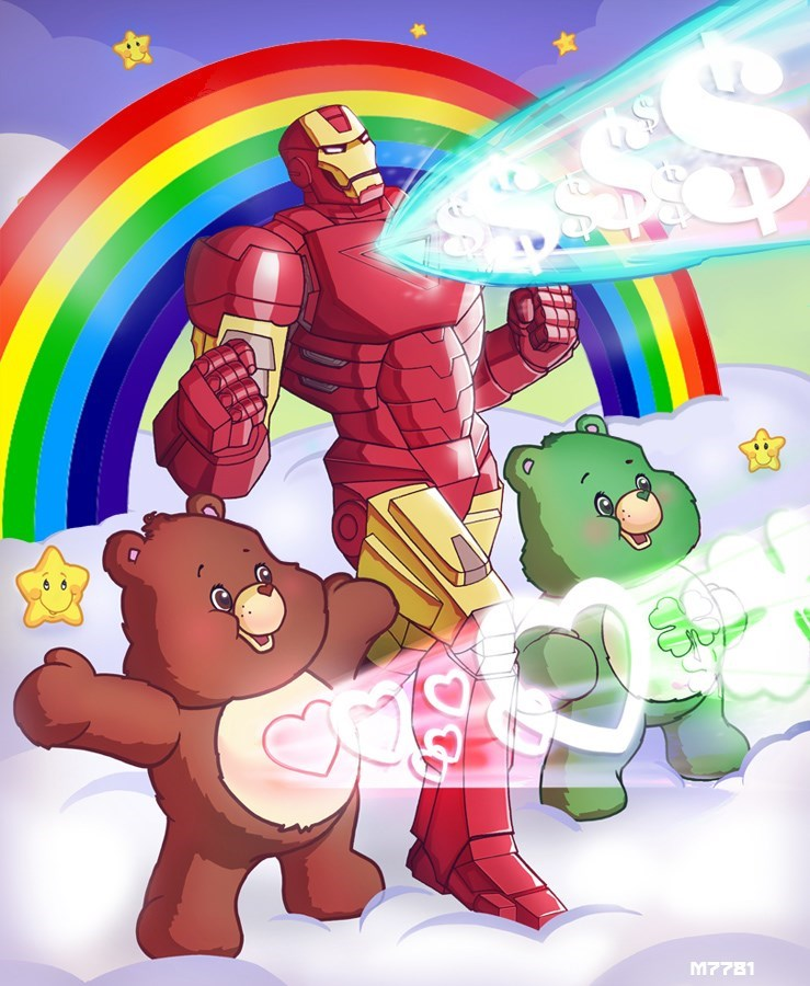 iron man superheroes mashup Iron Man Cares a Lot