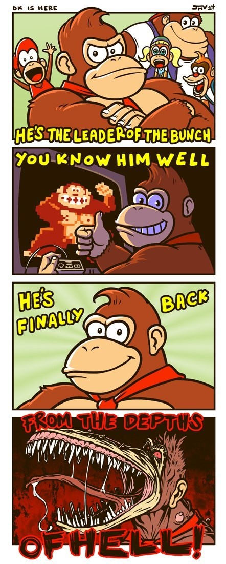 donkey kong Fan Art web comics - 8577618176