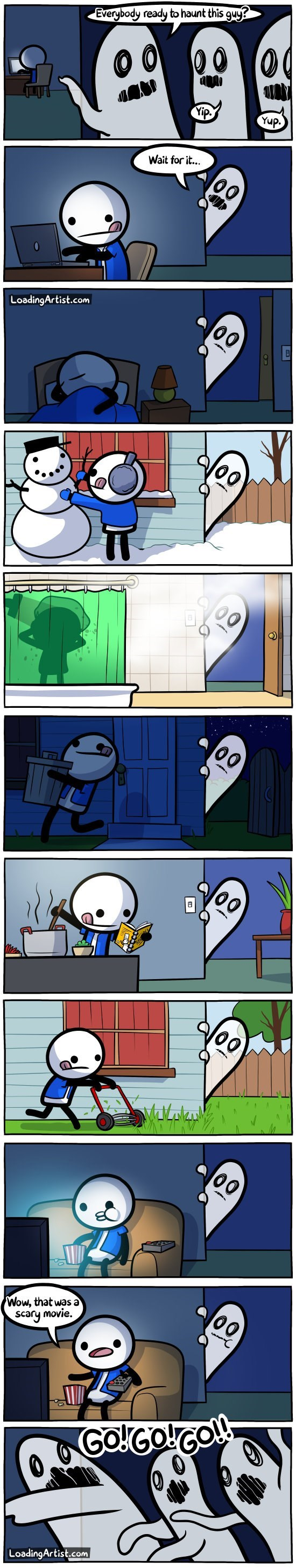 ghosts web comics Timing is Everything