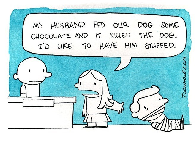 dogs mistakes taxidermy web comics - 8577967616