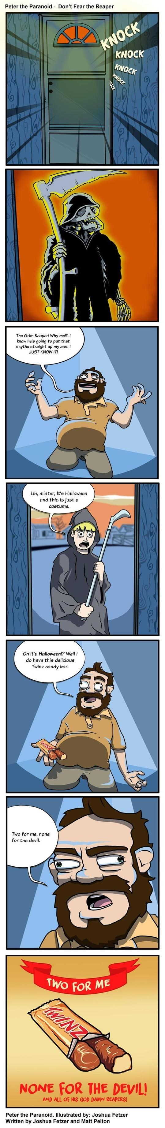 web comics halloween Don't Fear the Reaper