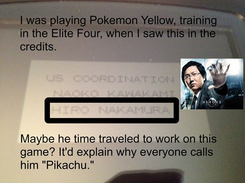 heroes hiro nakamura pokemon yellow - 8578095104