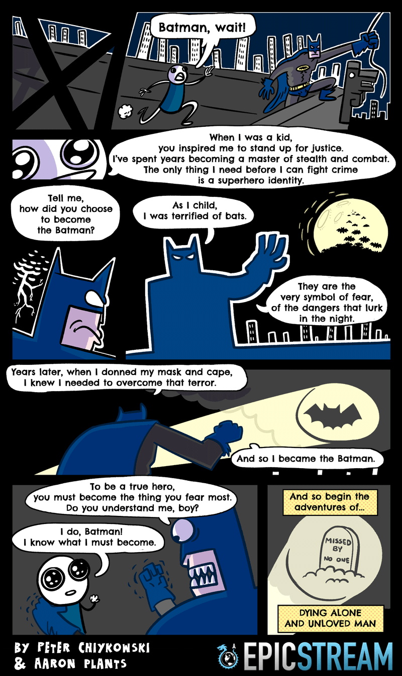 web comics batman superheroes Overcome Your Fears