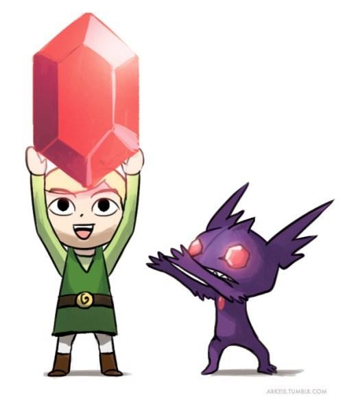 pokemon memes sableye meets link