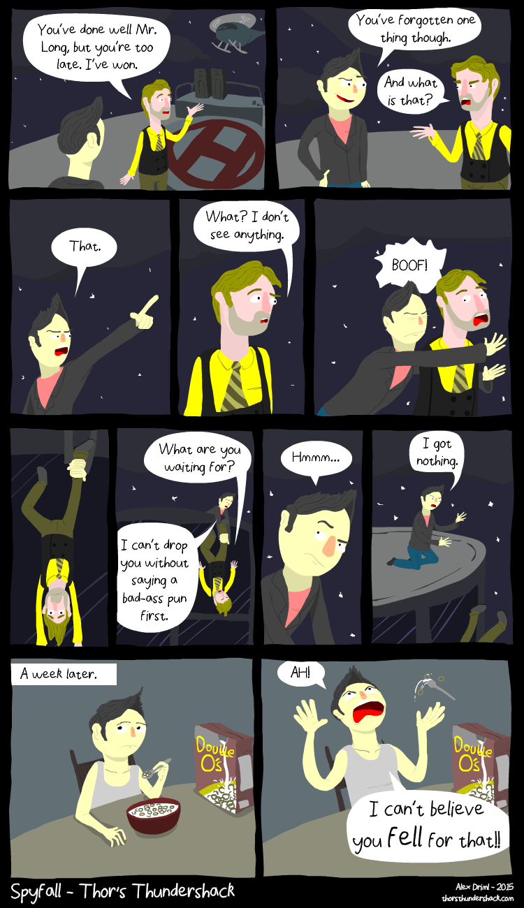 web comics spy You Should Know That Puns Are Part of the Job