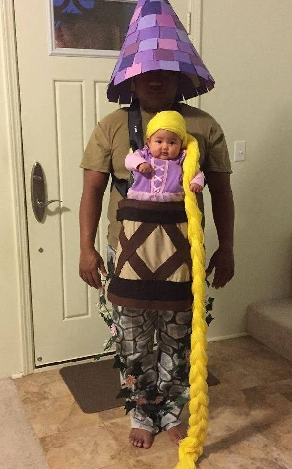 halloweenmemes father daughter rapunzel costume