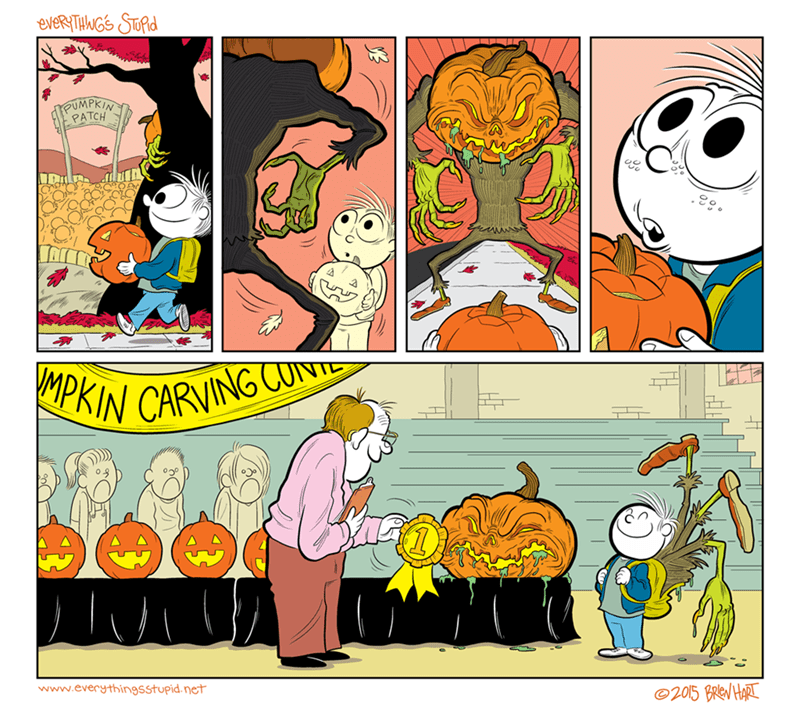 web comics Halloween jack o lantern Time to Carve a Pumpkin