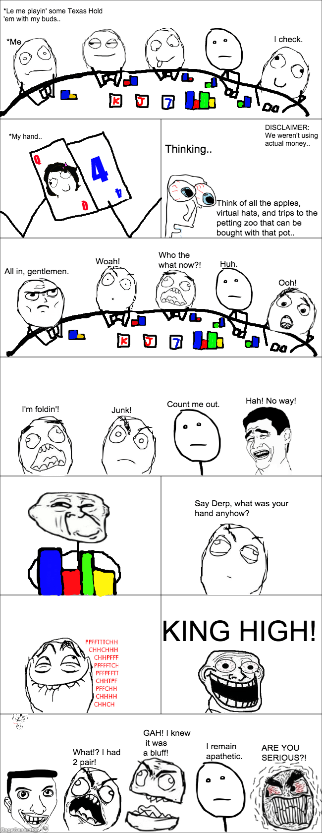 poker poker face troll