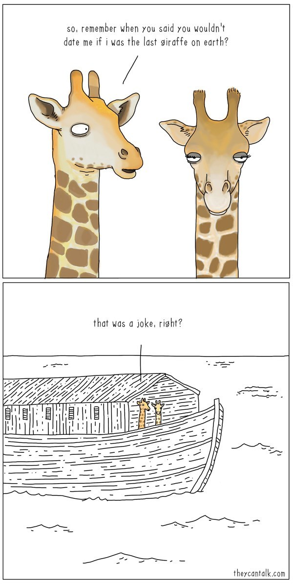 web comics giraffes noahs ark You Weren't Serious, Right?