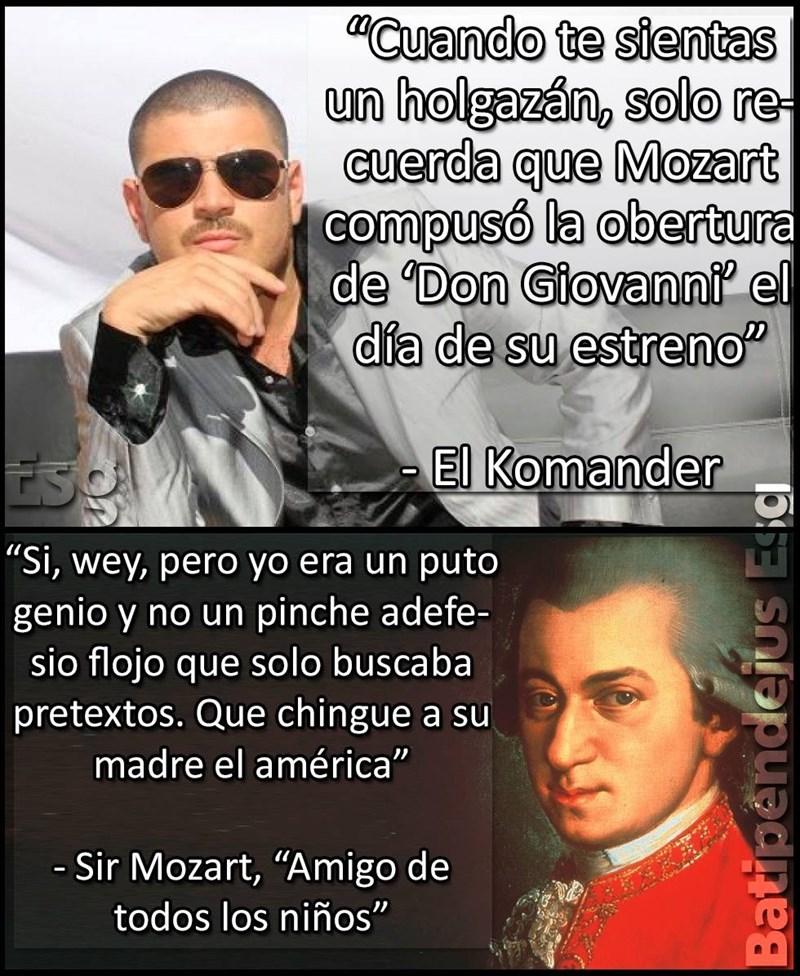 Mozart es un loquillo