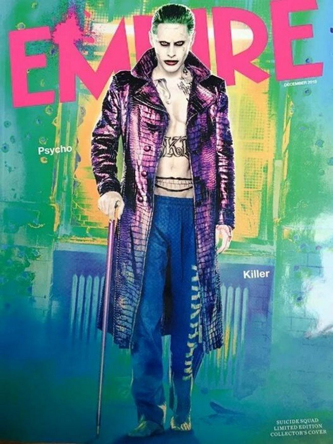 suicide squad joker Jared Leto Poses as the Joker on the Cover of Empire