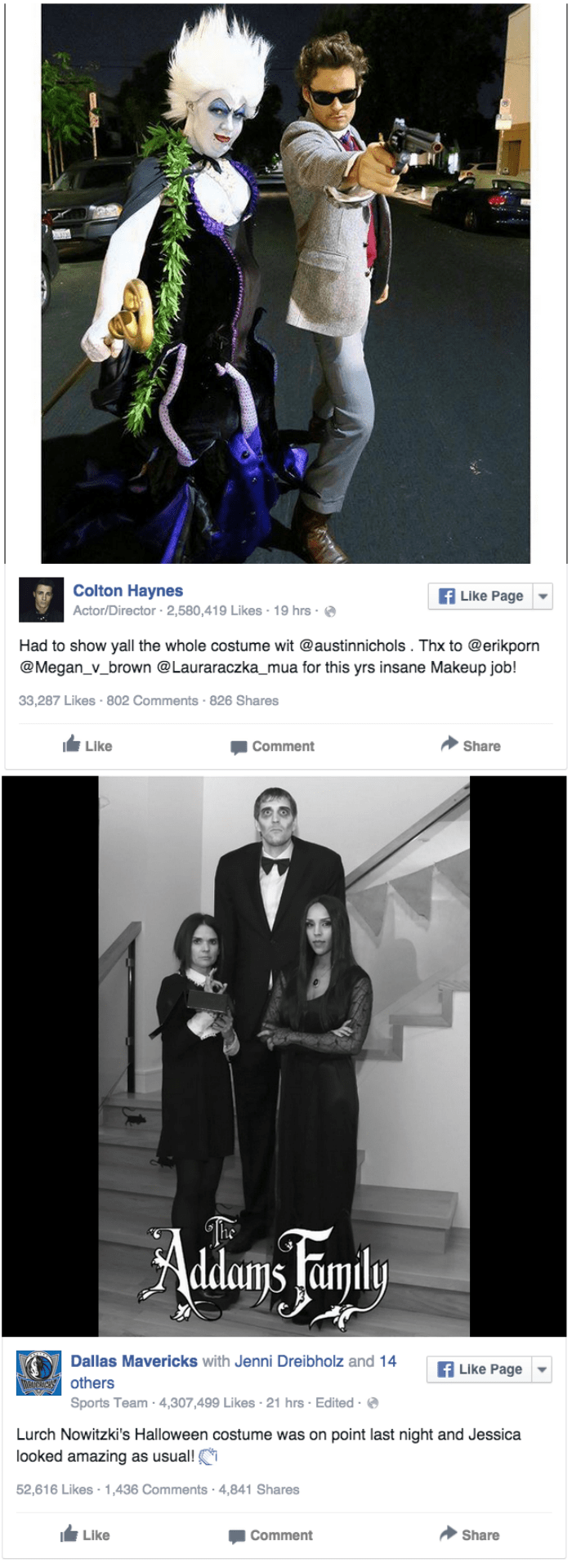 halloween Colton Haynes and Dirk Nowitzki facebook Costumes post