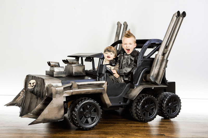 halloween memes epic kids mad max cosplay with war rig