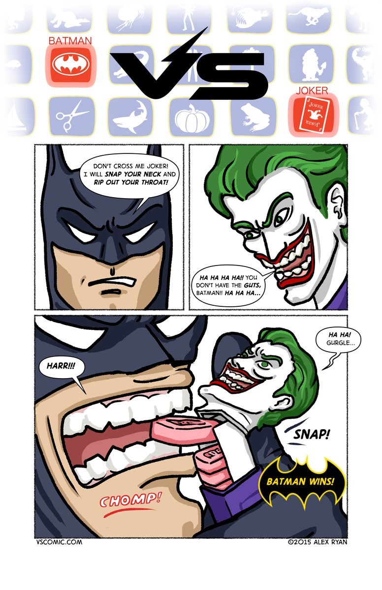 web comics batman joker Geez, Batman