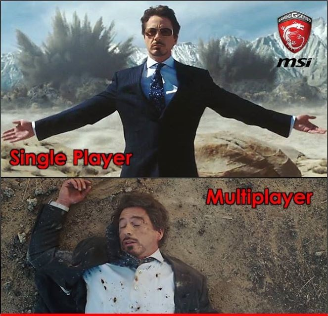 video game memes single player vs multiplayer