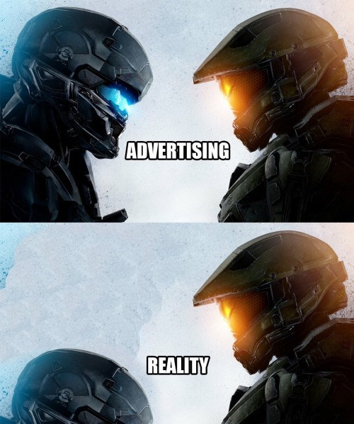 video game memes halo advertising vs reality