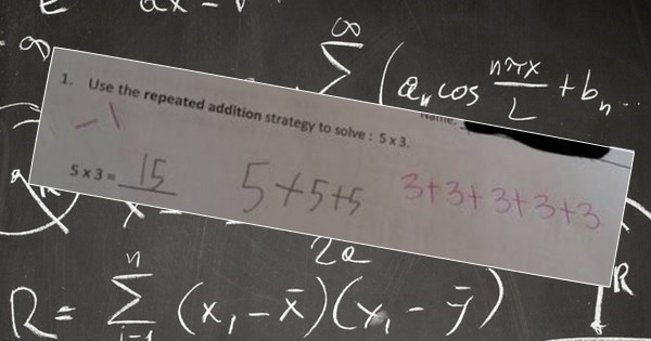 WTF of The Day: People Are Rally Angry Because This Math Strategy Says '5+5+5=15' is Wrong