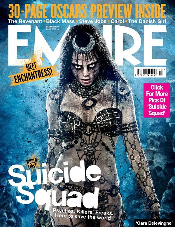 suicide squad enchantress Empire Released a Photo of Cara Delvingne as Enchantress