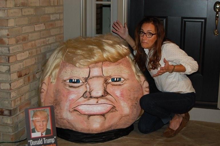 donald trump pumpkin halloween It's the Great Trumpkin, Charlie Brown