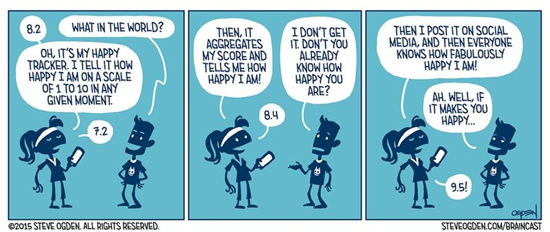 web comics social media If People Don't Know I'm Happy, How Do I Know It's Real