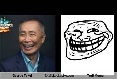 George Takei Totally Looks Like Troll Meme
