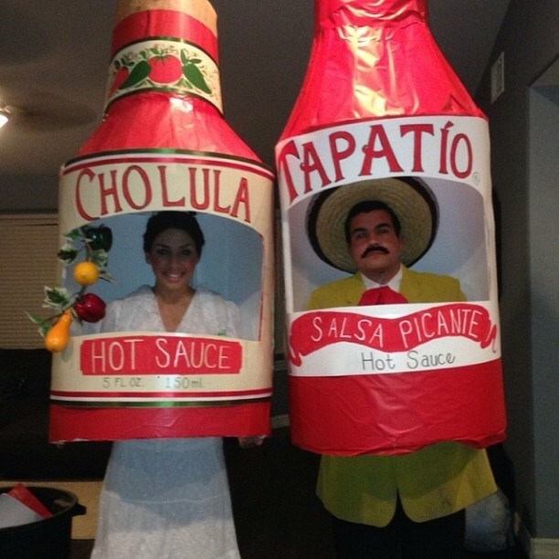 awesome halloween costume hot sauce couple
