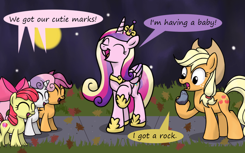 applejack cutie mark crusaders princess cadence - 8580099584