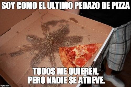 ultimo pedazo de pizza