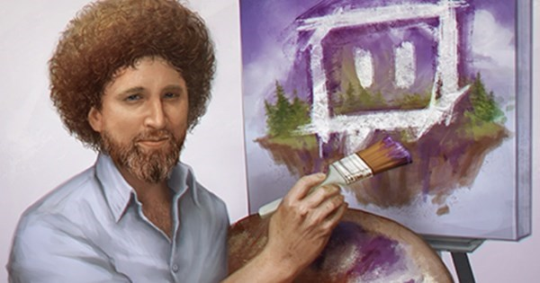 Happy Trees of The Day: Twitch is Streaming Every 'Joy of Painting' Episode For Bob Ross' Birthday