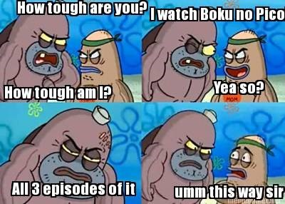how tough are you,boku no pico,anime