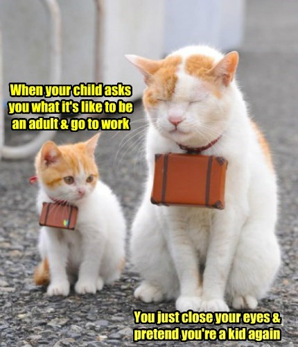 When your child asks you what it's like to be an adult & go to work