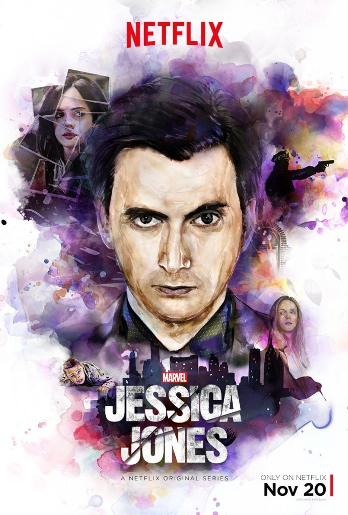 jessica jones the purple man poster Jessica Jones Gets a New Poster Featuring David Tennant as Kilgrave