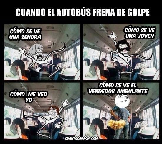 el bus frena