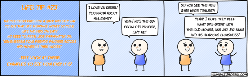 web comics Do You Still Get Life Insurance if You Brought It On Yourself