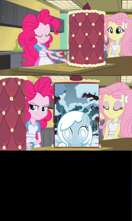 equestria girls fluttershy pinkie pie snowdrop - 8580542976