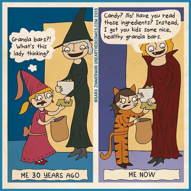 halloween candy web comics You Either Die a Hero, or Live Long Enough to Pass Out Healthy Treats