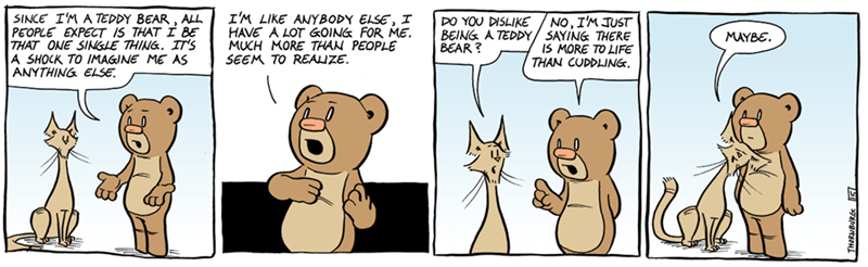 web comics teddy bear I Think a Big Hug Might Help
