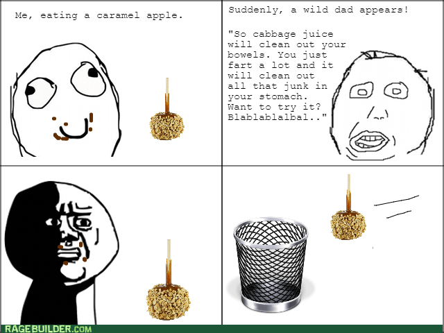 herp derp dad oh god why apple caramel apple