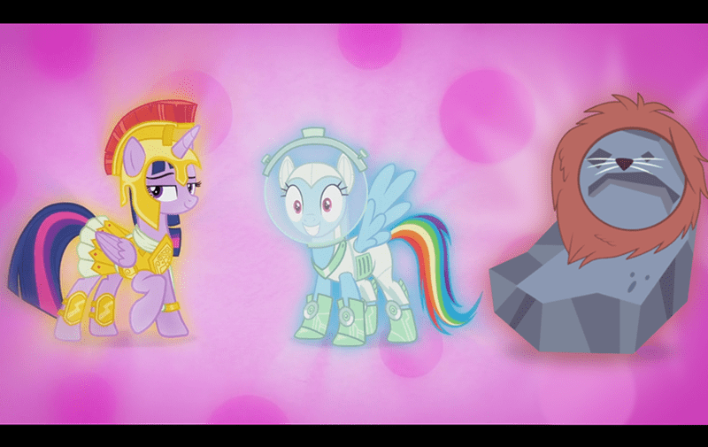 applejack,costume,twilight sparkle,rainbow dash