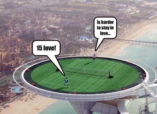 World's tallest tennis court in Dubai...