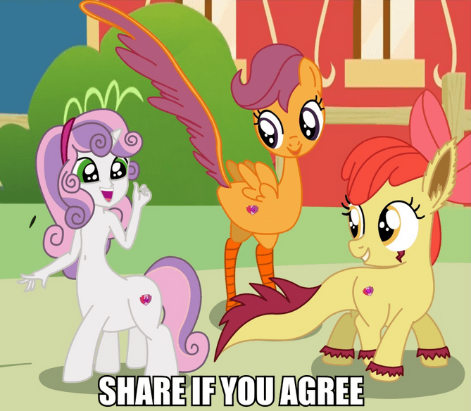 apple bloom,nightmare fuel,Scootaloo,Sweetie Belle