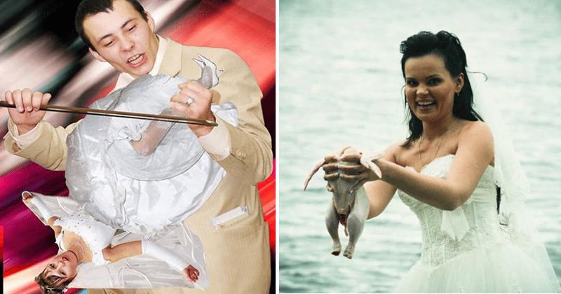 Cringey wedding photos from russia raw chicken.