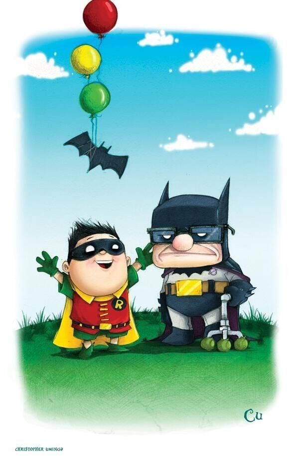 batman pixar fan art These Two Would Have No Problem Getting to Paradise Falls