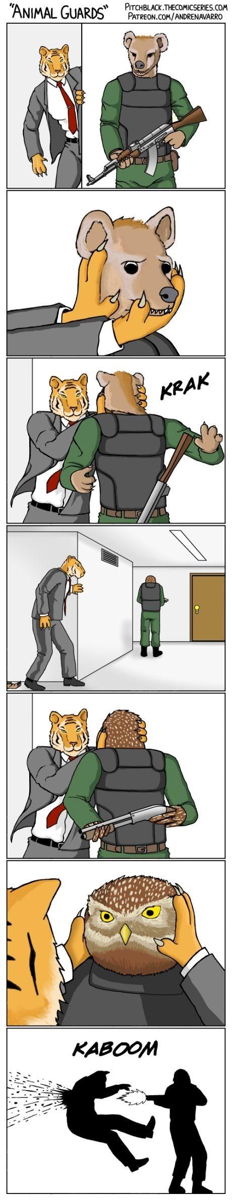 web comics owls Never Let Your Guard Down