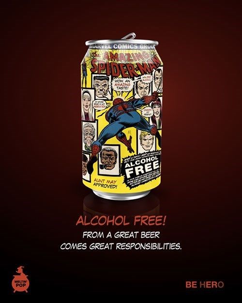 superheroes fan art beer Super Beer Can Designs