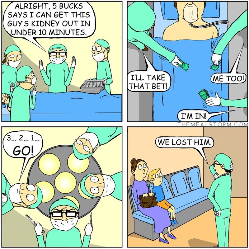 web comics gambling medicine Everybody Lost That Bet