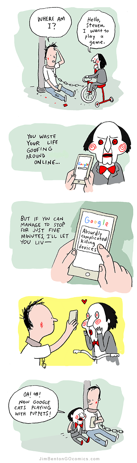 google web comics saw You Can Also Use Your Phone to Play Games