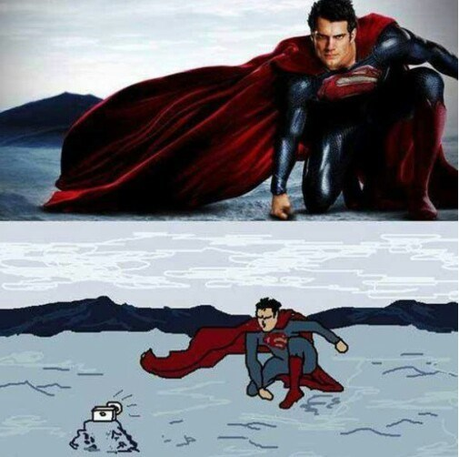superman selfie So That's How He Got That Shot