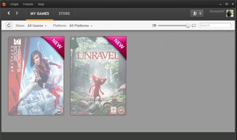 unravel EA origin mirrors edge